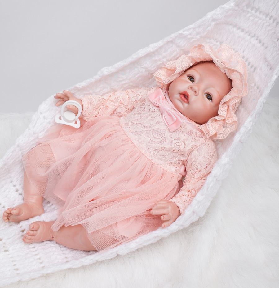 22 inch reborn baby doll toys 55 cm silicone dolls Lifelike lovely toy fashion Realistic Vinyl girl gifts