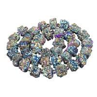 1 Strand Raw Clear Quartz Point Beads Pendants,Quartz stone Beads Finding,Crystal Natural Druzy stone bead