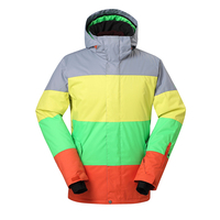 Fashion Promotion Free Shipping2014 Snow Sports Waterproof Windproof Mixed Colors Men Skiing Snowboard Jacket