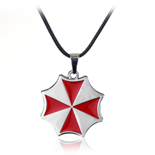 Resident Evil Movie Stainless Steel Leather Chain Pendant Necklace