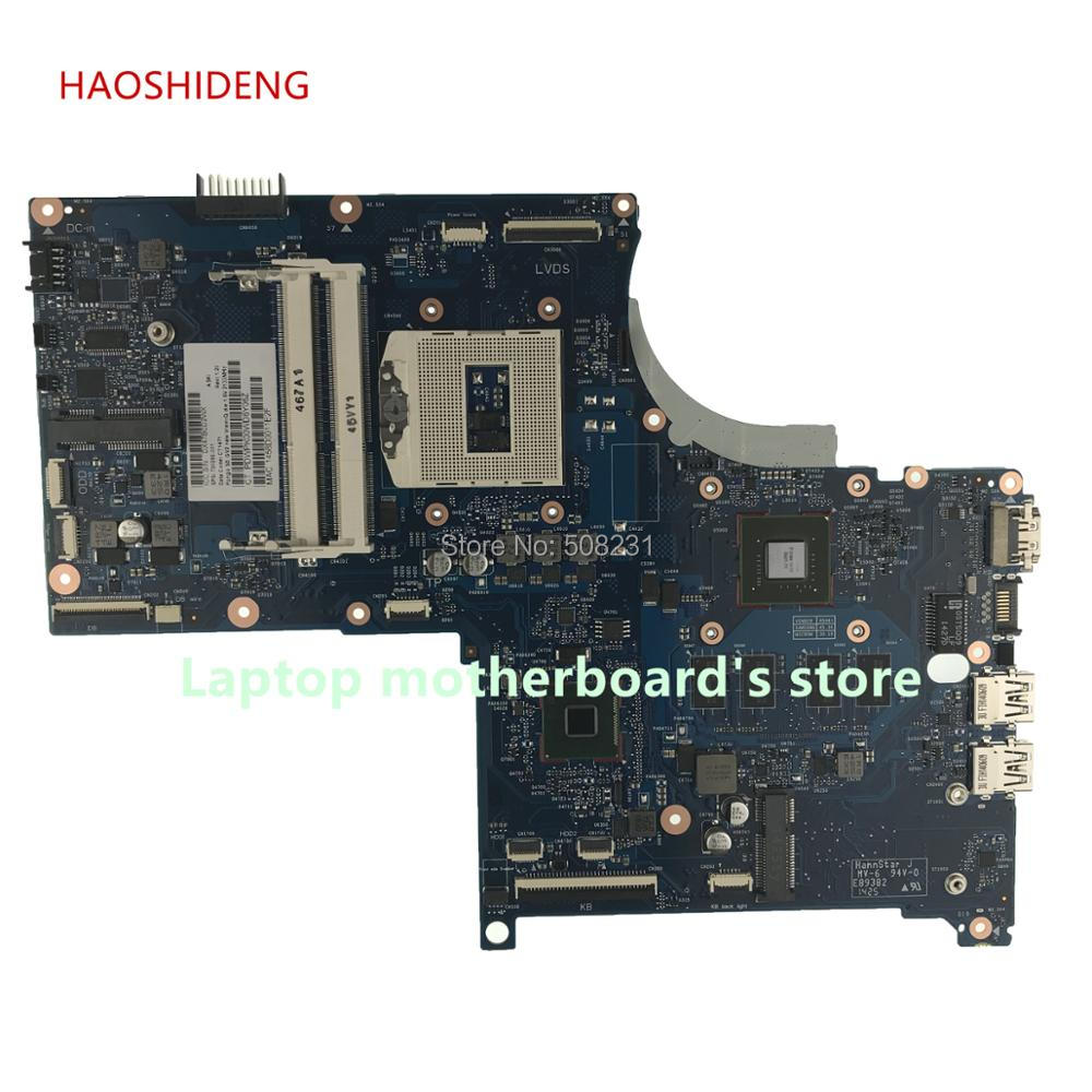 HAOSHIDENG 720266-001 720266-501 For HP 17 17T 17-J 17T-J Laptop motherboard 720266-601 mainboard with GT740M 2GB fully Tested 744010 601 744010 501 for hp 640 g1 650 g1 laptop motherboard 744010 001 6050a2566402 mb a04 qm87 hd8750m mainboard 100% tested