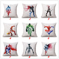 Scandinavian Cotton Linen Superhero Cushion Cover Cheap Sofa Car Home Decor Vintage Throw Pillow Case Avenger Waist Pillow PC050
