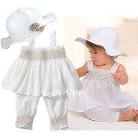 Baby Girl Clothing Set Newborn Bebes White Color Dress Suit 3pcs Set Roupa Infantil Cute Toddler
