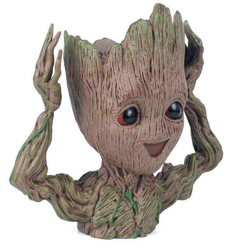 Tree Man Baby Anime Action Figure Dolls Penholder Grunt Guardians Of The Galaxy 2 Model Hero Pen Pot And Flower Pot Toys