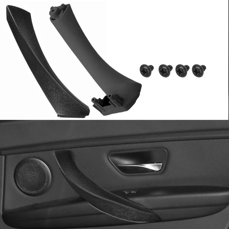 MODIFY-GT Lateral derecho e izquierdo Negro Panel interior de la puerta Manija Tire de la cubierta del borde Pessenger /& Driver Lateral del panel de la puerta Manija