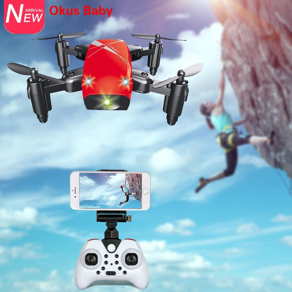 2019 marca nueva Mini Drone con cámara HD S9 No Cámara plegable RC Quadcopter altitud helicóptero WiFi FPV Micro bolsillo Dro