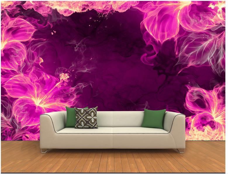 Custom 3d Photo Wallpaper 3d Wall Murals Wallpaper Romantic Purple Deep  Hole 3D Background Wall Mural Wallpaper For Living Room