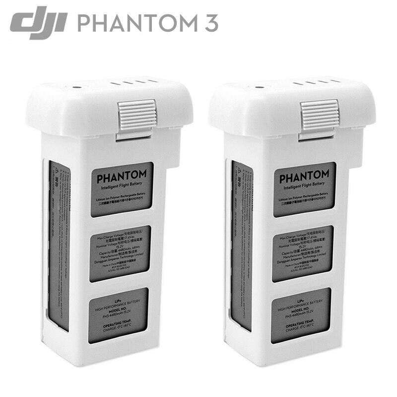 100% оригинал DJI Phantom 3 батарея 2 шт. 4500 мАч до 23 минут для DJI Phantom Advanced/Professional/standard/4 к/3 SE серии Drone