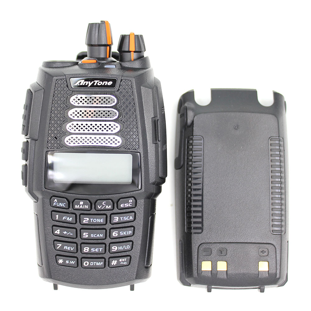 US $154 14 |2 pcs Anytone AT 398UV Dual band handheld two way radio (UV  Dual band 136 174MHz& 400 480MHz)-in Walkie Talkie from Cellphones &