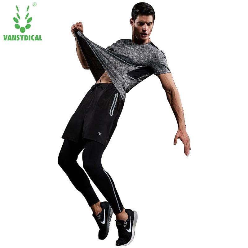 Ensembles de Compression grande taille hommes vêtements de sport survêtements marque Skinny vêtements de sport Fitness t-shirt haute qualité Crossfit costumes