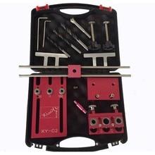 3 в 1 деревообрабатывающий сверлильный набор локатор деревообрабатывающий локатор дюбель джиг столярная система дырокол набор с инструментальной коробкой