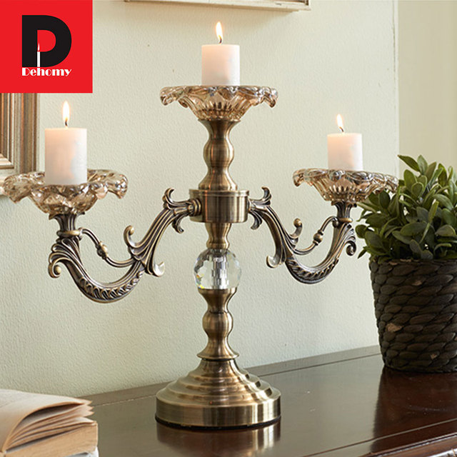 Dehomy Classical Candle Holder Vintage Bronze Carving ...