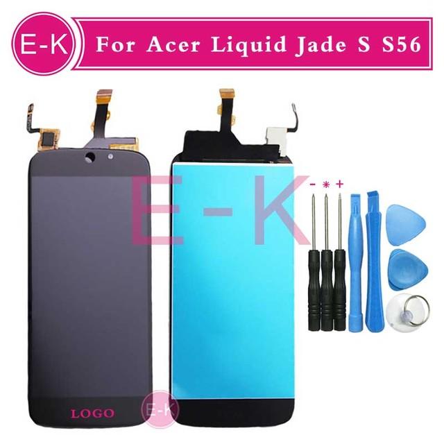"""Alta qualidade 5.0 """"para acer liquid jade s s56 display lcd + touch screen digitador assembléia substituição + ferramentas frete grátis"""