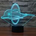 Adorável Dolphin 3D Ilusão Levou Projeção de Luz Noite Bebê Dispositivo Eletrônico de Cabeceira Candeeiro de Mesa Lâmpada de Mesa USB CONDUZIU a Iluminação Decorativa