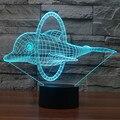 Precioso Dolphin Ilusión 3D Led Luz de La Noche de Proyección Bebé Mesita de noche Lámpara de Escritorio LED USB Aparato Electrónico de Iluminación Decorativa