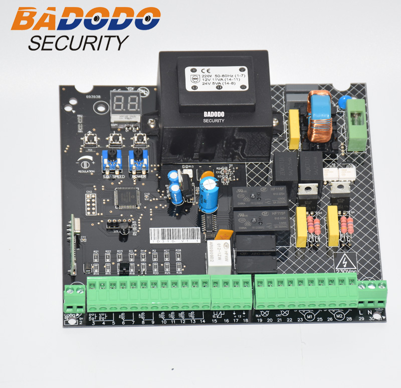 Universal 230VAC Power Input Swing Gate Opener Board Card Chip Circuit Board Controller Control Panel Remote Control Optional