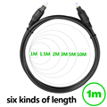 KELUSHI Toslink cable 1M Od4.0 Digital optical audio cable FOR Blu-ray player CD DVD TV optical cable fast shipping