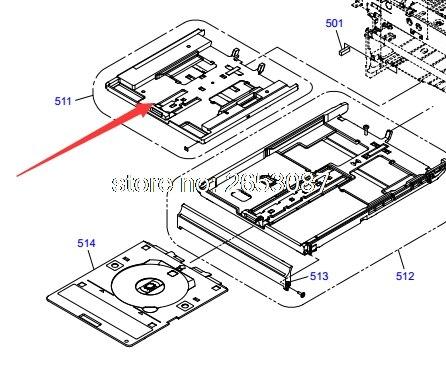 Nouveau bac à papier cassette d'origine pour Epson XP-700 XP-701 XP-702 XP700 XP701 XP702 bac à porte-papier