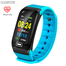 BANGWEI New IP68 Waterproof Smart Watch Women Heart Rate Monitor Men Fitness Tracker Sport Smartwatch For Android IOS+Box