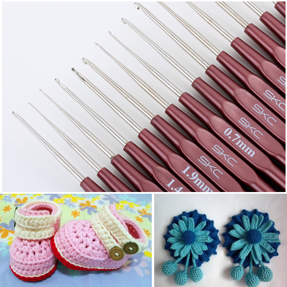High Quality Crochet Hook Mix 0.5mm-2.7mm Small Size Yarn Weave Knitting Needles For Lace Dolls DIY Silver Tools 16 Sizes Hooks