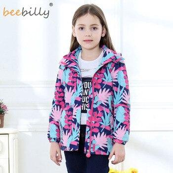 חדש עמיד למים Windproof ילדי הלבשה עליונה בנות מעילי ילדי ילדי מעיל חם פליס עבור 3-12T חורף סתיו אביב