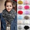 2015 Горячая распродажа зимой вокруг шеи шарф новый женский шарф зимой теплые вязаные шарфы с бахромой прочистки прекрасный шарф платок для женщины 13 цветов