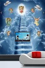 3d room wallpaper custom mural non-woven Wall sticker 3d angel a ladder to heaven porch painting photo wallpaper for walls 3d