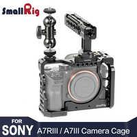 Kit de jaula de cámara SmallRig a7r3 para sony a7m3 para cámara sony A7R III/aparejo de jaula A7 III con mango superior cabeza de bola para cámara 2103