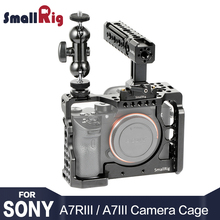 SmallRig a7r3 Camera Cage Kit for sony a7m3 Sony A7R III  / A7 Rig W/ Top Handle Grip Ball Head 2103
