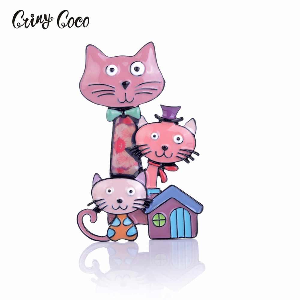 Cring Coco Nuovo Arrivo Del Gatto Del Fumetto Animale da Compagnia Spilla Spille Smalto Spille Commercio All'ingrosso Vestiti Delle Donne Dei Monili Spilli