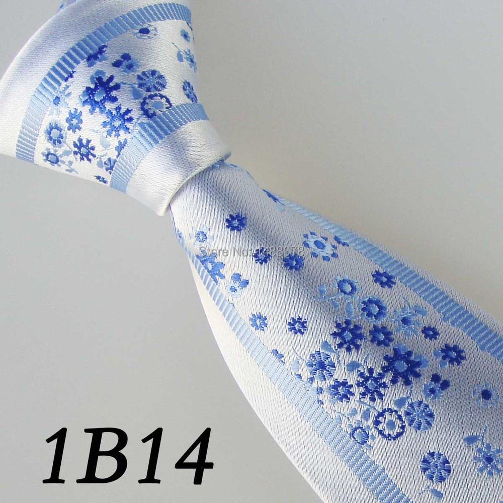 Flower Blue Ties 1B14