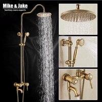 Bathroom Antique brass shower set with bathroom rain shower head antique shower set Antique Shower Bathtub Faucet Sets