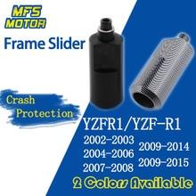 For Yamaha YZFR1 YZF R1 No Cut Frame Slider Crash Pads Falling Protector 2002 2003 2004 2005 2006 2007 2008 2009 2010 2011-2015