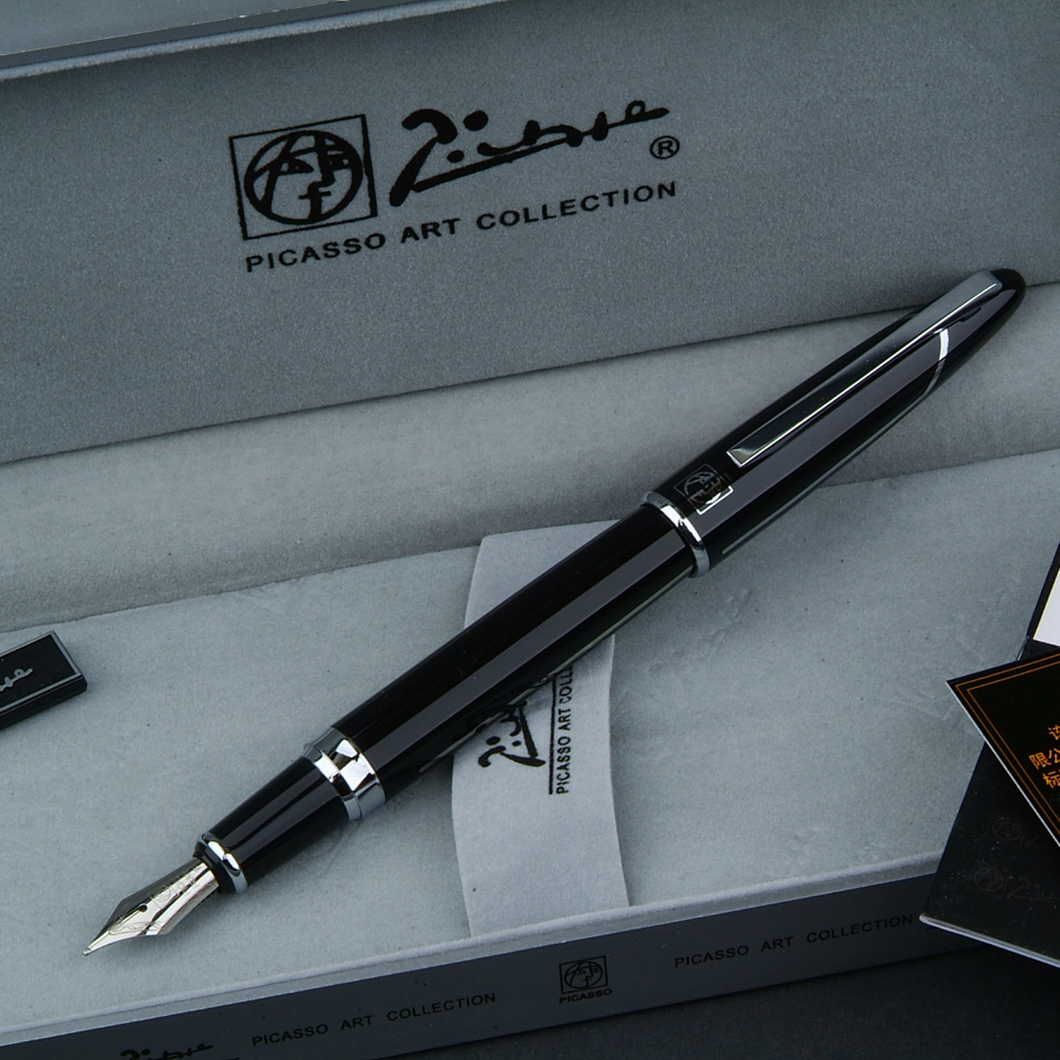 Picasso Baroque fountain pen high quality, free shipping picasso picasso ps 919 baroque black silver iridic gold fountain pen ink pen picas pen free shipping