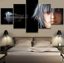 Framed 5 Piece HD Print Large Final Fantasy Game Painting Canvas Wall Art Picture Home Decoration Living Room