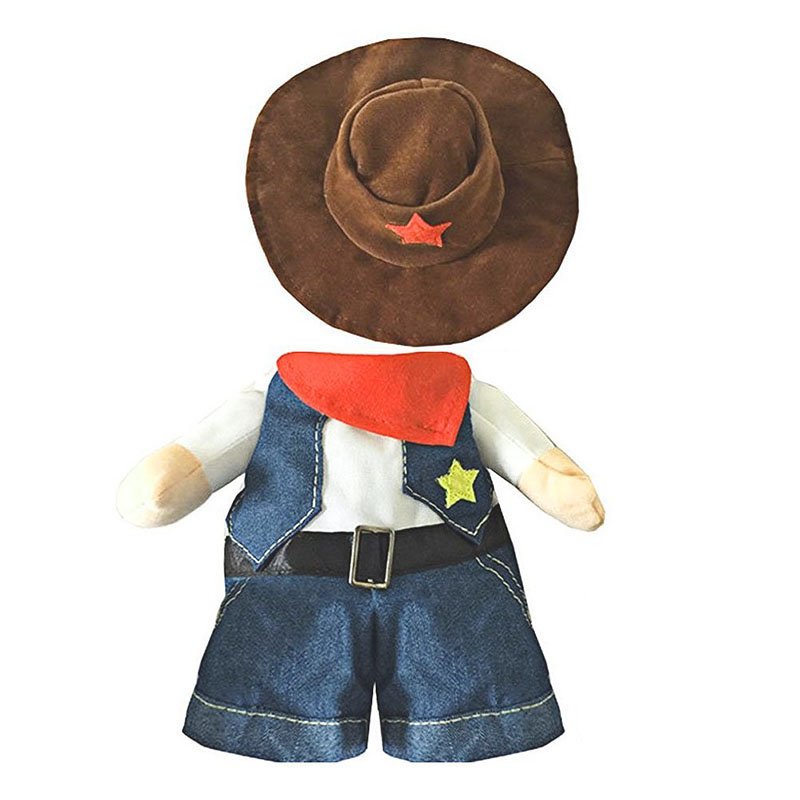 Pet Outfit Pet Dog Cat Cowboy Costume Stylish Pet ...