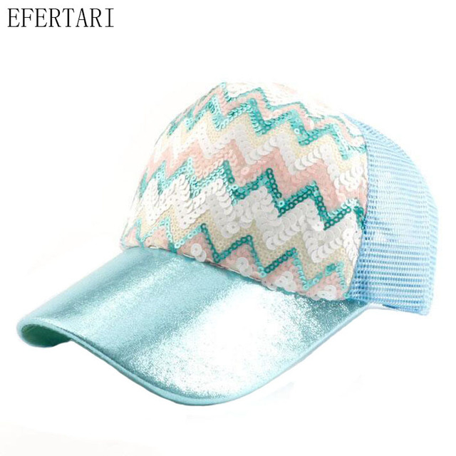 2017 Top Fashion Rushed Sequined Five-pointed Star Spring And Hat  Adjustable Baseball Sequins Net Travel High Quality For Adult fde4e598f27f