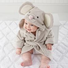 Enfants vêtements garçons filles de Robes nouveau hiver printemps automne de bande dessinée bébé peignoir De Nuit et Robe d'hiver Rose lapin ours