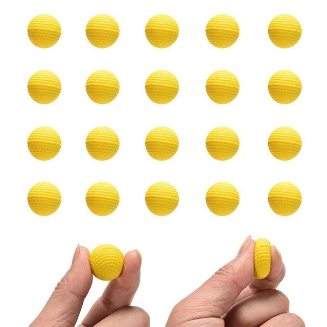 Toy Compatible Gun Bullet Balls 100 Rounds For Rival Refill Yellow 20  Pcs/lot