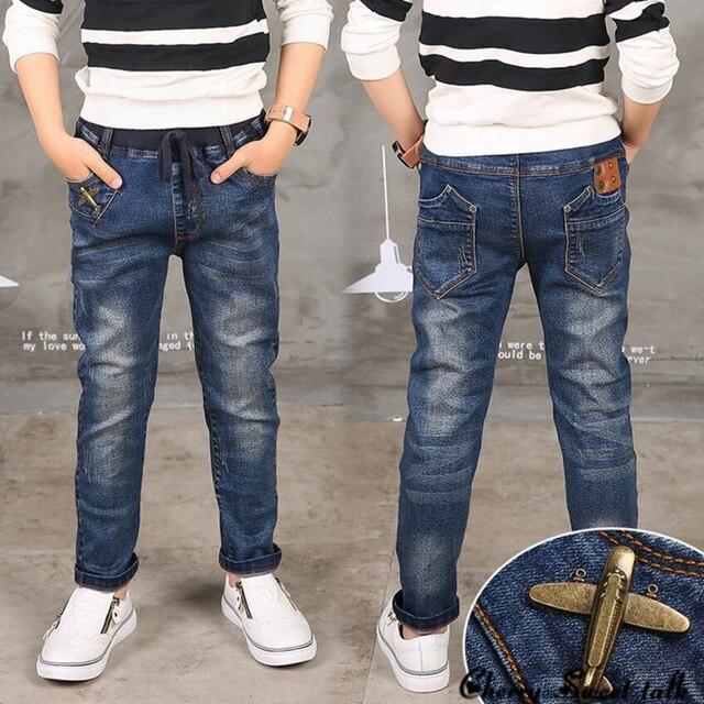 Новый Год, мальчик джинсы, детская одежда модный стиль и высокое качество дети джинсы, мальчики джинсы, мальчик кожаные джинсы
