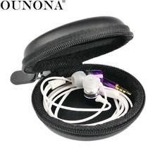 Portable Zippered Hard Carrying Case Storage Bag Organizer for Earphone /Headphone /iPod /MP3(China)