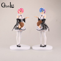 GonLeI Re:Life in a different world from zero Rem Action Figure Ram Nendoroid Figure Doll PVC figure Toys Brinquedos Anime Maid