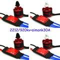 4 X 2212 920kv Brushless Motor 4x 30a Simonk Esc Quad Multirotor X525 F450