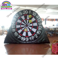 Football shooting games inflatable dart board,3m height Inflatable golf dart game with sticky balls