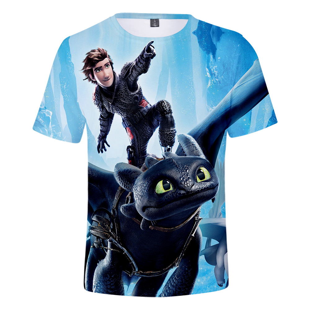 884d607ca7c How to Train Your Dragon 3D Printed T-shirts Women Men Summer Short Sleeve