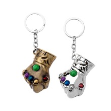 2019 Meetcute 2018 New Movie The Avengers 3 Keychain 3D Fist Energy Gloves Infinite War Key Chain Accessory Ring