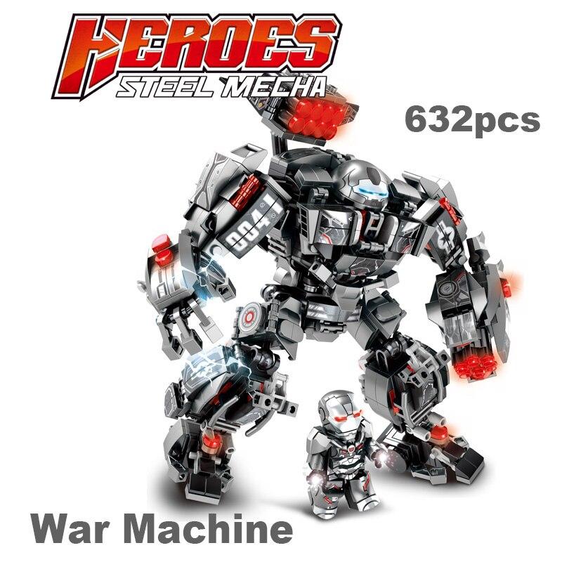 Image 3 - Marvel строительные блоки Железный человек халкбастер военная машина Супер Герои Мстители бесконечные войны детские игрушки подарки 2 типаБлочные конструкторы   -