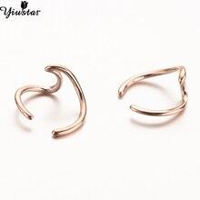 Yiustar Stainless Steel Wave Ear Cuff Wave Conch Piercing Cl