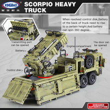 XINGBAO 06014 Genuine 1377PCS Military Series The Scorpion Heavy Truck Set Building Blocks Bricks Toys Children Christmas Gifts(China)