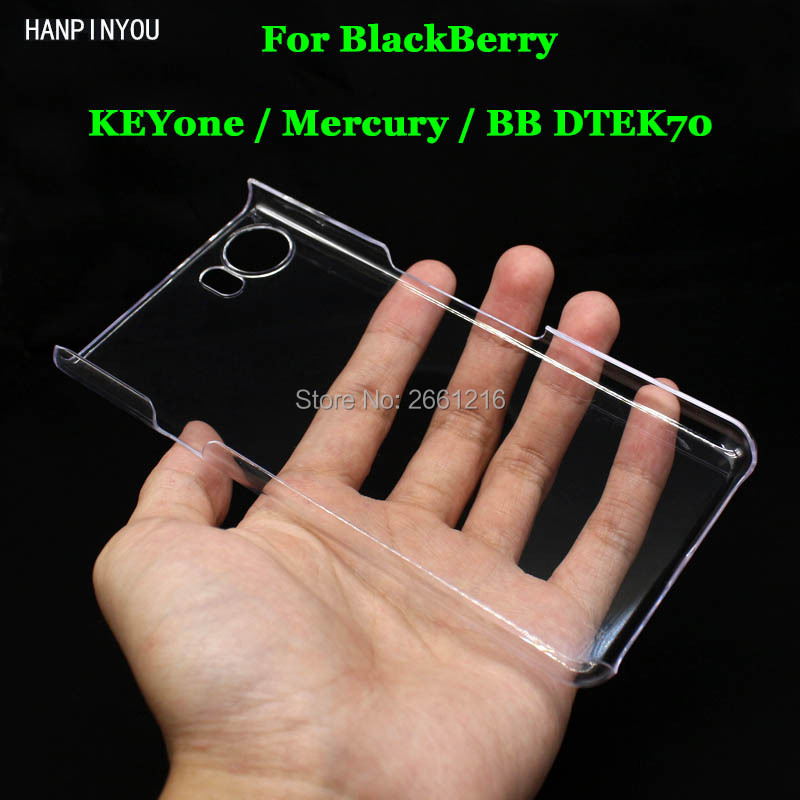 "For BlackBerry KEYone / Mercury / BB DTEK70 4.5"" Hard PC DIY Case Ultra Thin Clear Hard Plastic Cover Protective Skin(China)"